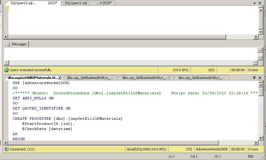 Using New Horizontal/Vertical Tab Groups | SQL Studies