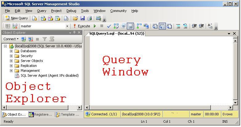 ssms drag from object explorer - How To Get Object Explorer In Sql Server 2012