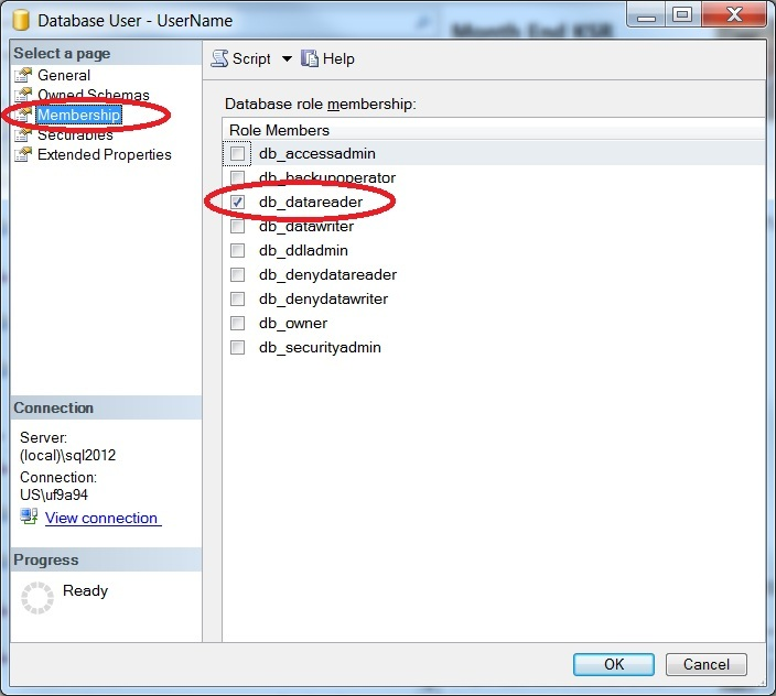 sql server grant read write access to database