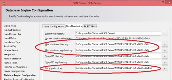 SQL Server Default File Locations1