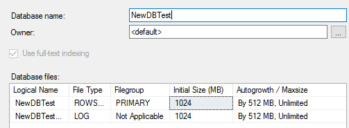 And now the default for new databases has changed.
