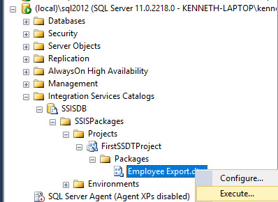 Changing the version of an SSIS package  | SQL Studies