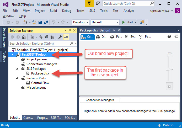 Creating an SSIS project | SQL Studies