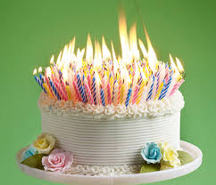 Image of a cake with lots of candles, although probably not 800.